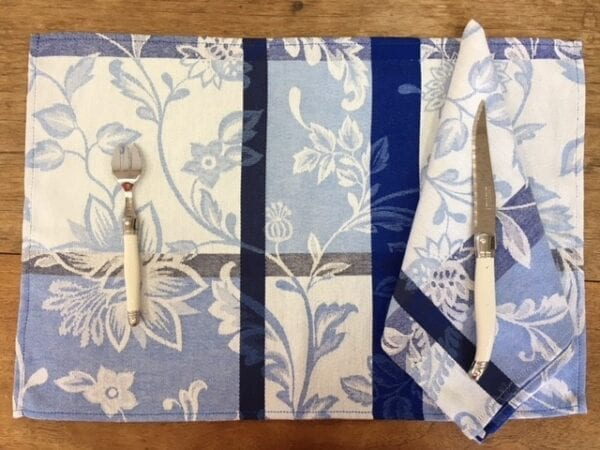 Florenta Blue French Set of 3 Placemats