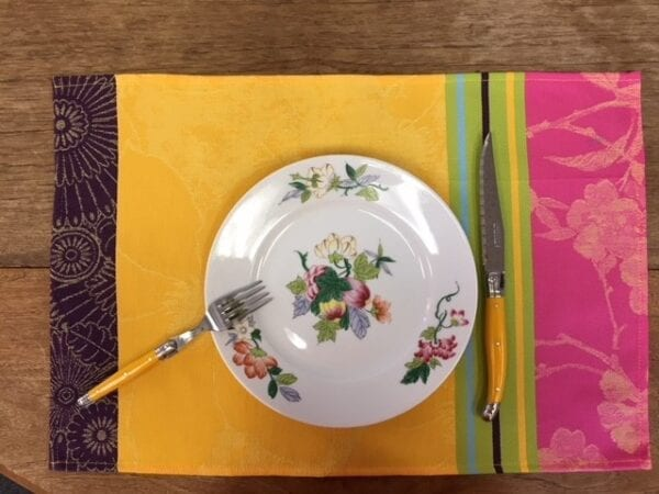 Baleares Yellow French Set of 3 Placemats
